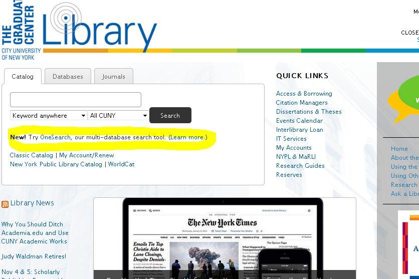 Grad Center snap highlighted