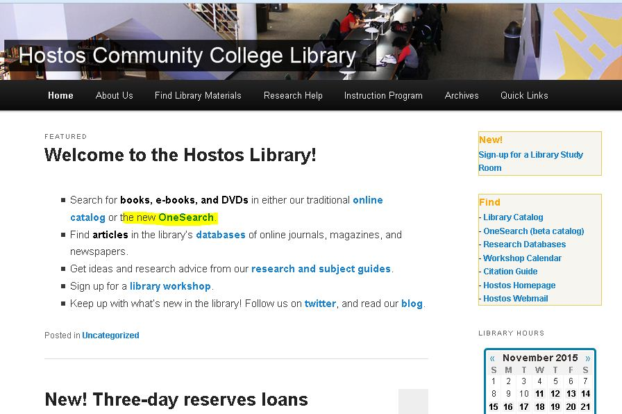 Hostos snap highlighted